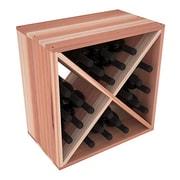 Red Barrel Studio Karnes Redwood X-Cube 24 Bottle Tabletop Wine Rack; Natural