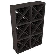 Red Barrel Studio Karnes Pine X-Cube 144 Bottle Floor Wine Rack; Black