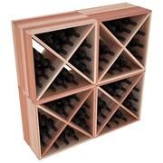 Red Barrel Studio Karnes Redwood X-Cube 96 Bottle Floor Wine Rack; Natural