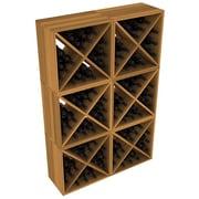 Red Barrel Studio Karnes Redwood X-Cube 144 Bottle Floor Wine Rack; Oak