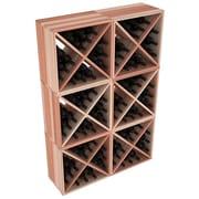 Red Barrel Studio Karnes Redwood X-Cube 144 Bottle Floor Wine Rack; Natural
