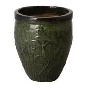 Emissary Fern Ceramic Pot Planter; 20'' H x 17'' W x 17'' D