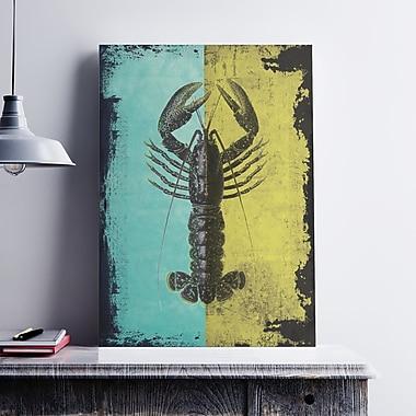 Ebern Designs 'Lobster' Graphic Art Print on Satin Canvas; 36'' H x 24'' W x 0.1'' D