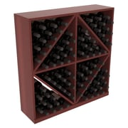 Red Barrel Studio Karnes Redwood Diamond Storage 96 Bottle Floor Wine Rack; Cherry Satin