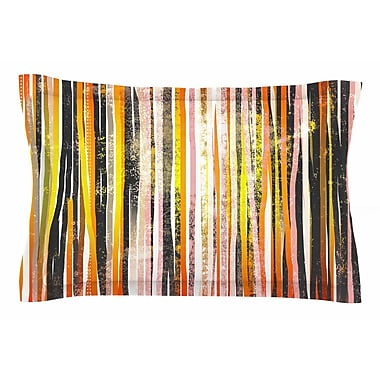 East Urban Home Frederic Levy-Hadida 'Chocolate Stripes' Illustration Sham; King