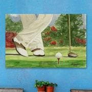 Red Barrel Studio 'On the Tee Box' Painting Print on Wrapped Canvas; 30'' H x 45'' W x 1.5'' D