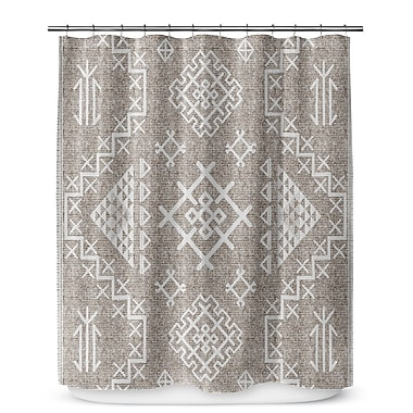 Loon Peak Cyrill Shower Curtain; White