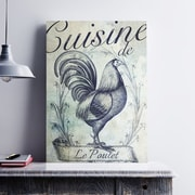 Ophelia & Co. 'Vintage French Rooster' Graphic Art Print on Cotton Canvas; 19'' H x 13'' W x 0.1'' D