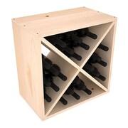 Red Barrel Studio Karnes Pine X-Cube 24 Bottle Tabletop Wine Rack; Natural