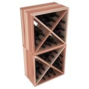 Red Barrel Studio Karnes Redwood X-Cube 48 Bottle Floor Wine Rack; Natural