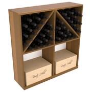 Red Barrel Studio Karnes Redwood 96 Bottle Floor Wine Rack; Oak Satin
