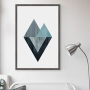 George Oliver 'Triangle Convergence' Framed Watercolor Painting Print; 36'' H x 24'' W x 1.5'' D