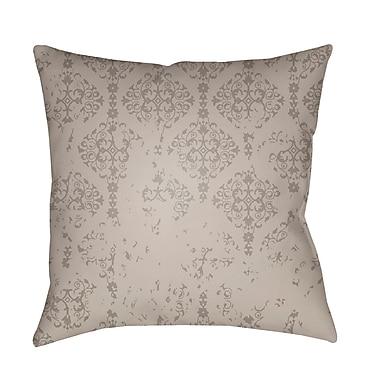 One Allium Way Patridge Damask Indoor/Outdoor Square Throw Pillow; Medium Gray
