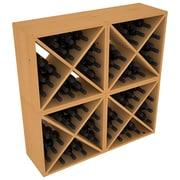 Red Barrel Studio Karnes Pine X-Cube 96 Bottle Floor Wine Rack; Oak