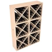 Red Barrel Studio Karnes Pine X-Cube 144 Bottle Floor Wine Rack; Natural