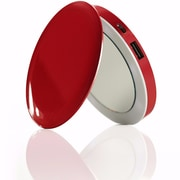 HYPER PL3000-RED 'Pearl' Compact Mirror + USB Battery Pack 3000mAh, Red