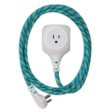 360 Electrical Habitat Braided USB Power Cord- Mint