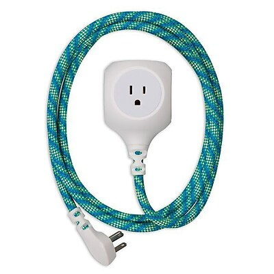 360 Electrical Habitat Braided USB Power Cord- Mint