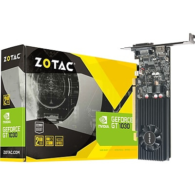 Zotac GeForce GT 1030 Graphic Card, 2 GB GDDR5, Low-profile
