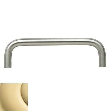 Baldwin Wire 4'' Center Appliance Pull; Bright Brass