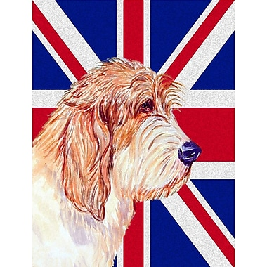 East Urban Home English Union Jack British Flag 2-Sided Garden Flag; Petit Basset Griffon Vendeen