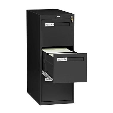 Tennsco 3 Drawer Vertical Legal Size File Cabinet; Black