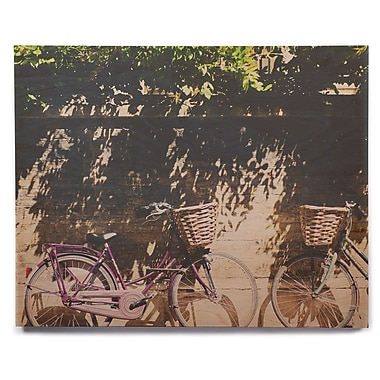 East Urban Home 'Pretty Bicycles' Photographic Print on Wood; 12'' H x 12'' W x 1'' D