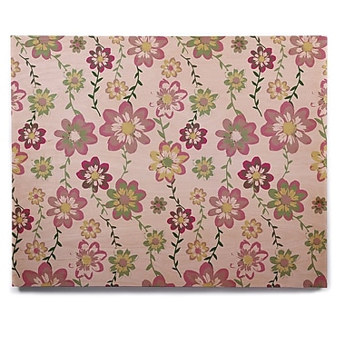 East Urban Home 'Romantic Flowers in Pink' Graphic Art Print on Wood; 12'' H x 12'' W x 1'' D