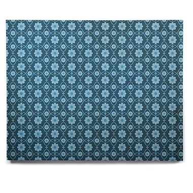 East Urban Home 'Floral Blue' Graphic Art Print on Wood; 16'' H x 20'' W x 1'' D