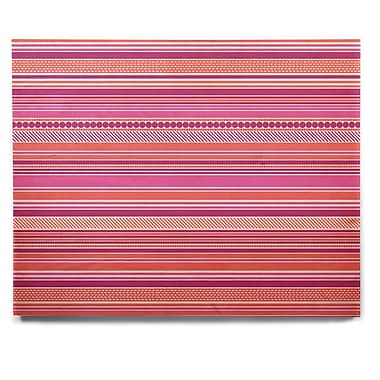 East Urban Home 'Pink Ribbons' Graphic Art Print on Wood; 16'' H x 20'' W x 1'' D