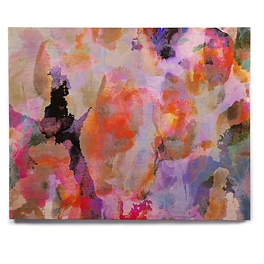 East Urban Home 'Painterly Blush' Painting Print on Wood; 12'' H x 12'' W x 1'' D