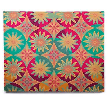 East Urban Home 'Happy Flowers' Graphic Art Print on Wood; 20'' H x 24'' W x 1'' D