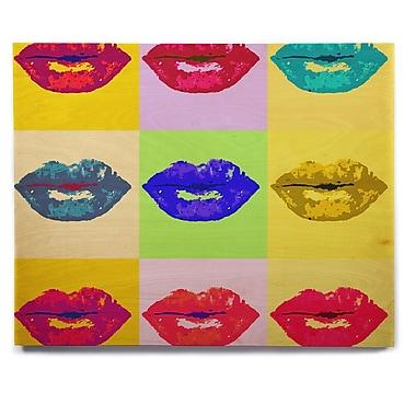 East Urban Home 'Pop Kiss' Graphic Art Print on Wood; 11'' H x 14'' W x 1'' D