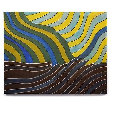 East Urban Home 'Desert Waves' Graphic Art Print on Wood; 20'' H x 24'' W x 1'' D