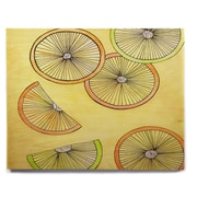 East Urban Home 'Lemons And Limes' Graphic Art Print on Wood; 8'' H x 10'' W x 1'' D