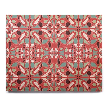 East Urban Home 'Stained Glass Pink' Graphic Art Print on Wood; 8'' H x 10'' W x 1'' D