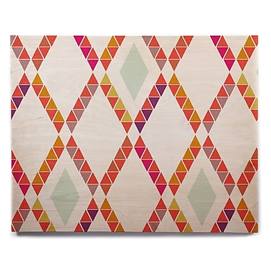 East Urban Home 'Aztec Diamonds' Graphic Art Print on Wood; 8'' H x 10'' W x 1'' D