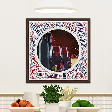 Ivy Bronx 'Red Wine Night' Framed Painting Print; 32'' H x 32'' W x 1.5'' D