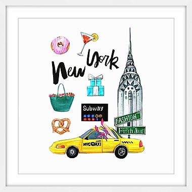 Ivy Bronx 'When in New York' Framed Painting Print; 18'' H x 18'' W x 1.5'' D
