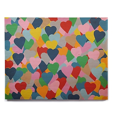 East Urban Home 'More Hearts' Graphic Art Print on Wood; 12'' H x 12'' W x 1'' D