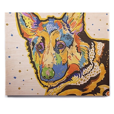 East Urban Home 'Floyd' Graphic Art Print on Wood; 20'' H x 24'' W x 1'' D
