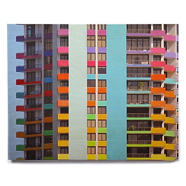 East Urban Home 'The Rainbow Building' Photographic Print on Wood; 8'' H x 10'' W x 1'' D