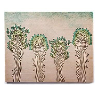 East Urban Home 'Amazon Trees' Graphic Art Print on Wood; 11'' H x 14'' W x 1'' D