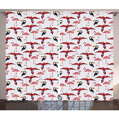Tawnya Valentines Day Graphic Print and Text Semi-Sheer Rod Pocket Curtain Panels (Set of 2)
