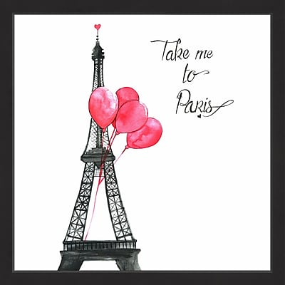Rosdorf Park 'Take Me to Paris' Framed Painting Print; 18'' H x 18'' W x 1.5'' D