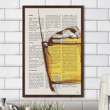 Williston Forge 'Liquid Courage' Framed Painting Print; 30'' H x 20'' W x 1.5'' D