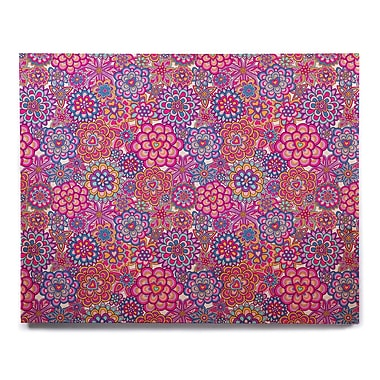 East Urban Home 'My Happy Flowers' Graphic Art Print on Wood; 12'' H x 12'' W x 1'' D