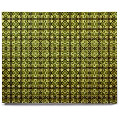 East Urban Home 'Floral Green' Graphic Art Print on Wood; 20'' H x 24'' W x 1'' D
