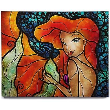 KESS InHouse 'Ariel' Graphic Art Print on Wood; 12'' H x 12'' W x 1'' D