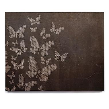 East Urban Home 'Butterflies IV' Graphic Art Print on Wood; 16'' H x 20'' W x 1'' D